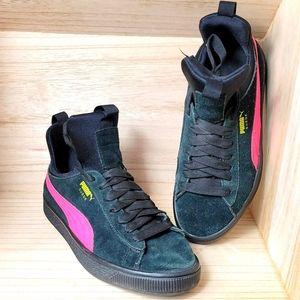Puma Suede Black Pink Shoes